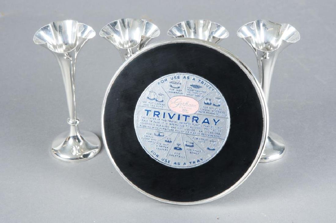 (4) MAPPIN & WEBB STERLING SILVER CORDIAL & TRAY - 3