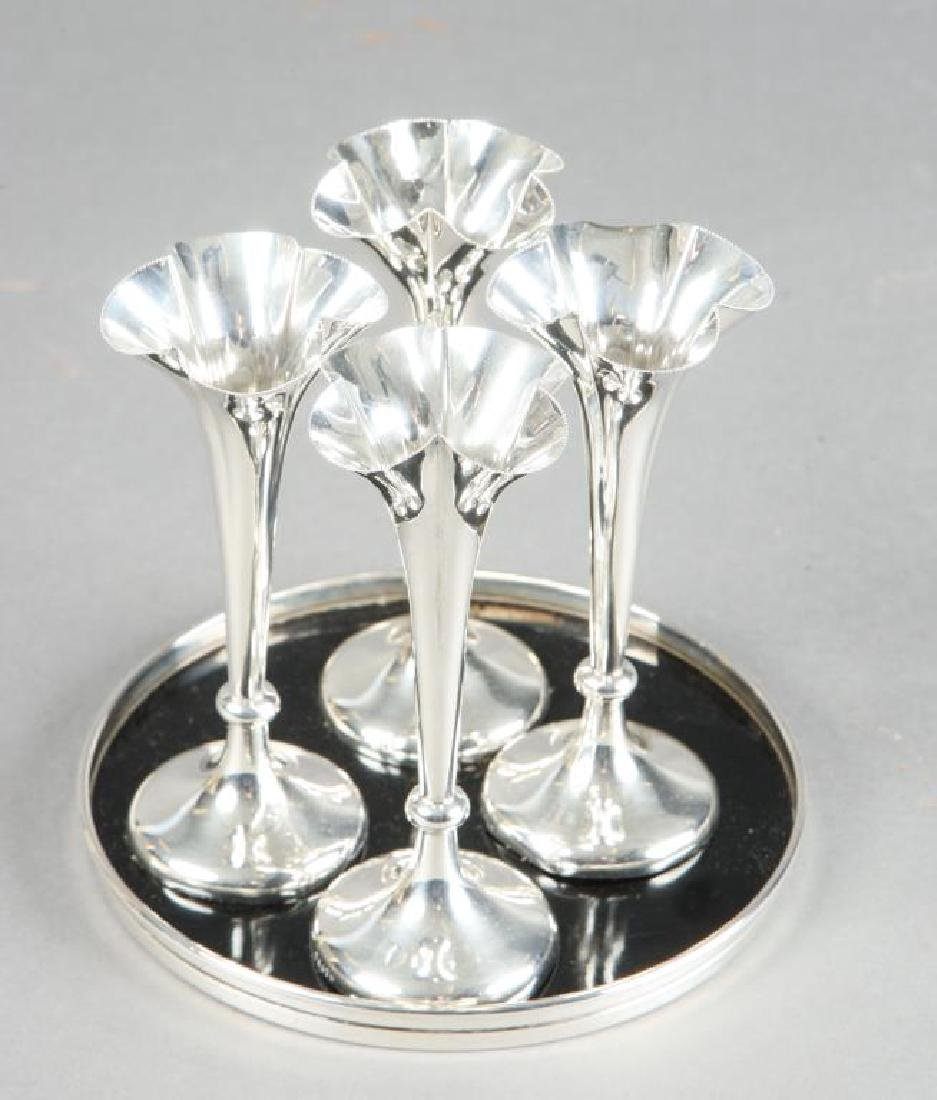 (4) MAPPIN & WEBB STERLING SILVER CORDIAL & TRAY - 4
