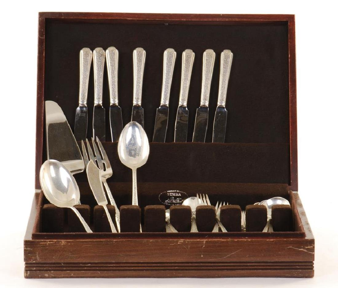 "TOWLE STERLING SILVER ""OLD BROCADE"" FLATWARE SET"