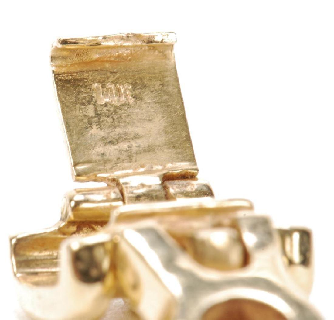 14k GOLD ENHANCER with BEZEL SET CUBIC ZIRCONIA - 5