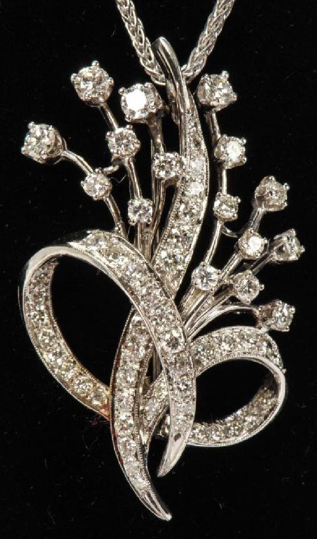 14k WHITE GOLD AND DIAMOND PENDENT