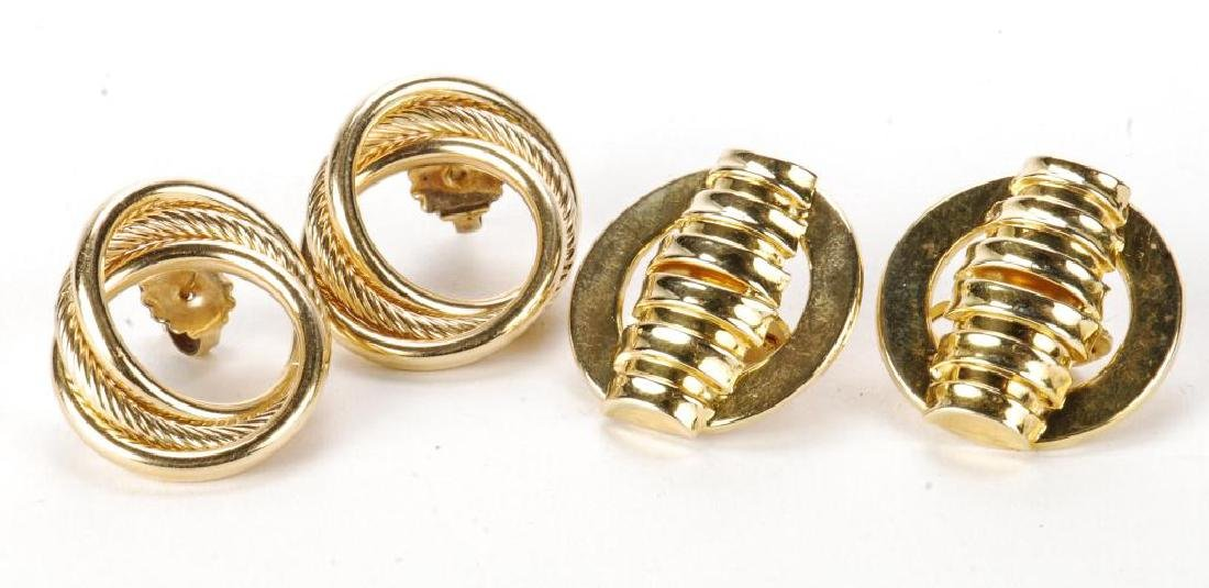 (2) PAIR OF 14k GOLD EARRINGS