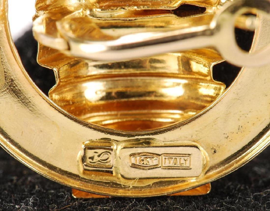 (2) PAIR OF 14k GOLD EARRINGS - 2