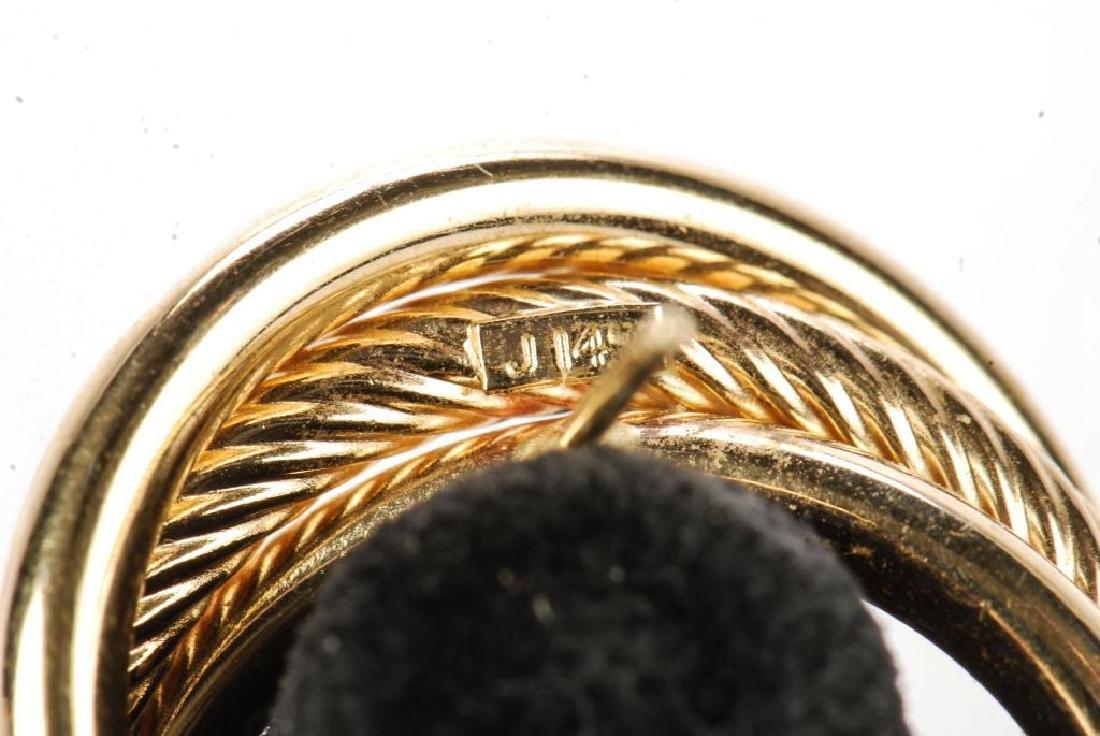 (2) PAIR OF 14k GOLD EARRINGS - 3