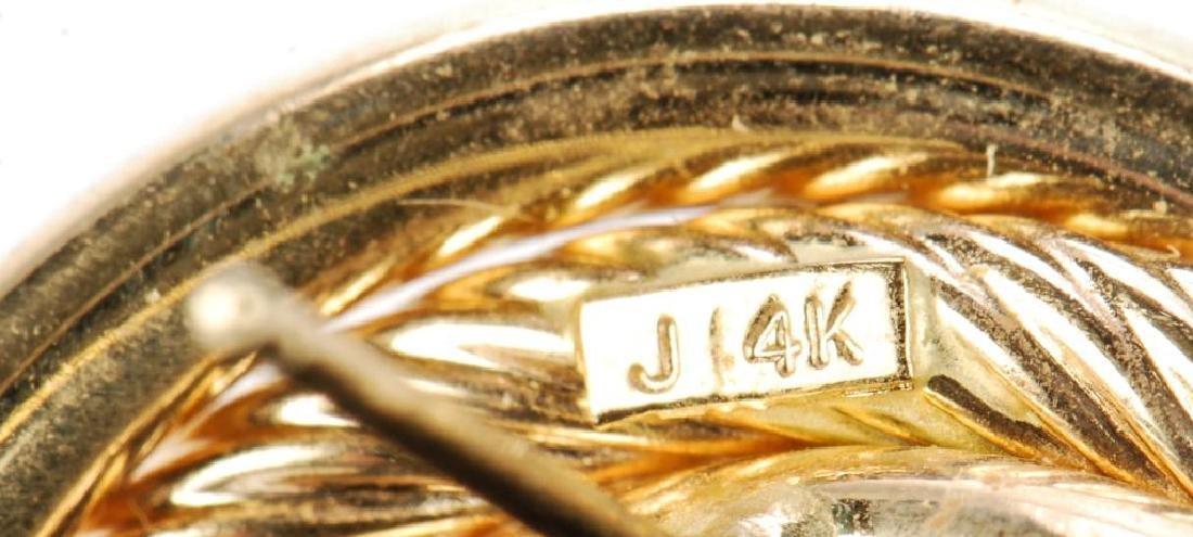 (2) PAIR OF 14k GOLD EARRINGS - 4