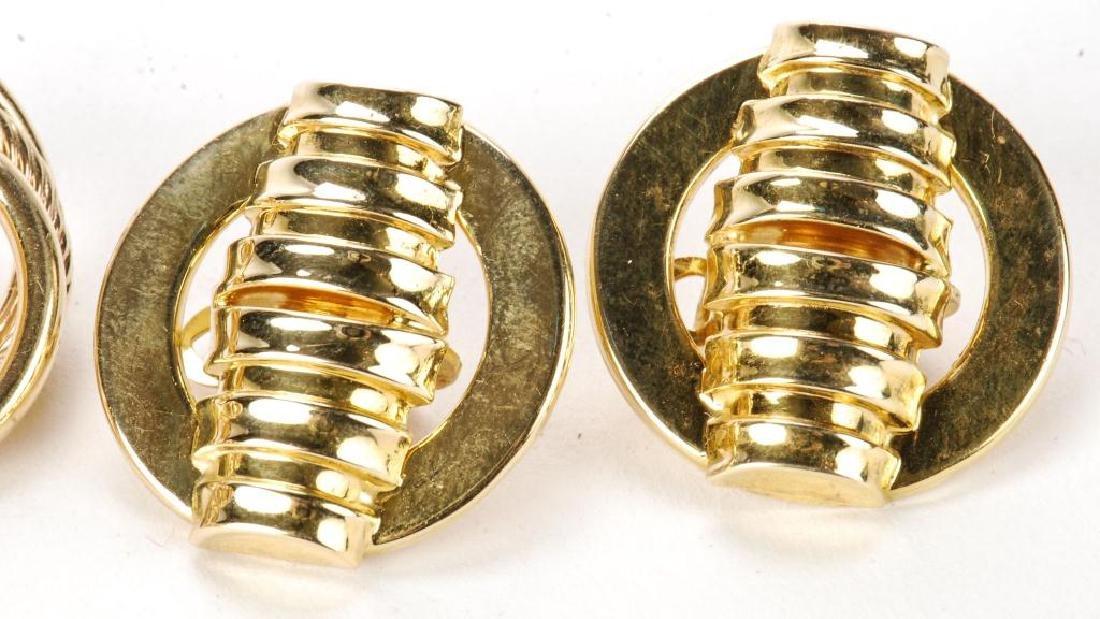 (2) PAIR OF 14k GOLD EARRINGS - 5