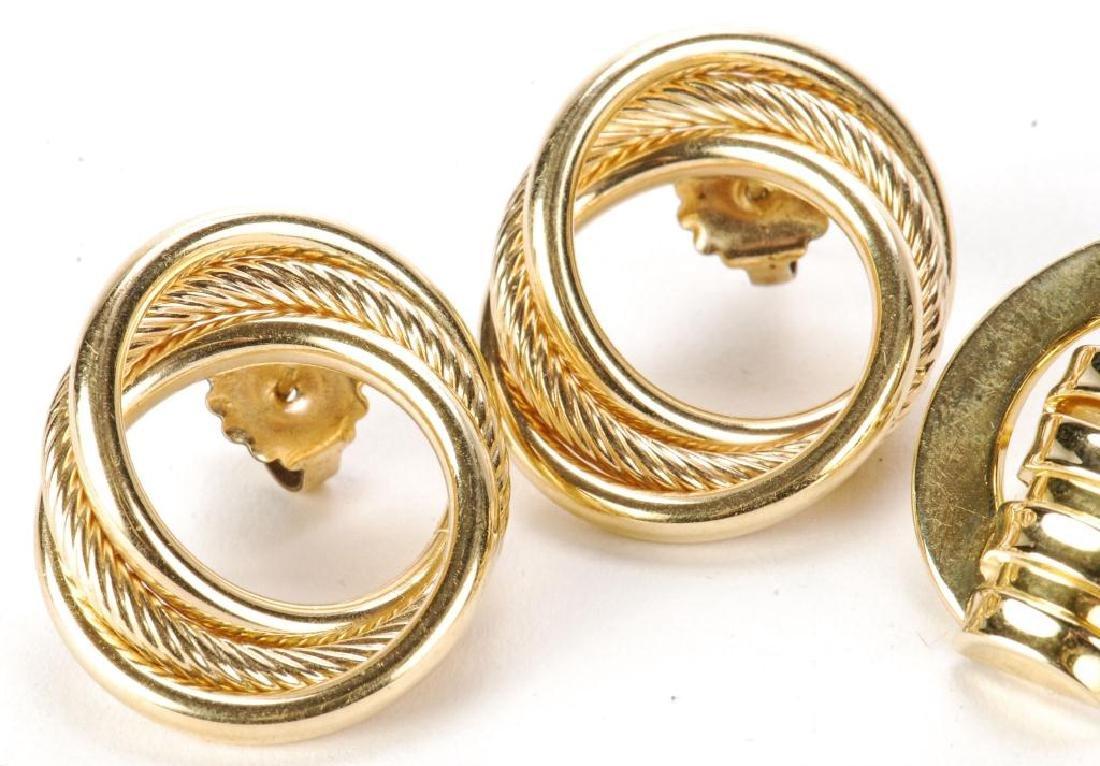 (2) PAIR OF 14k GOLD EARRINGS - 6