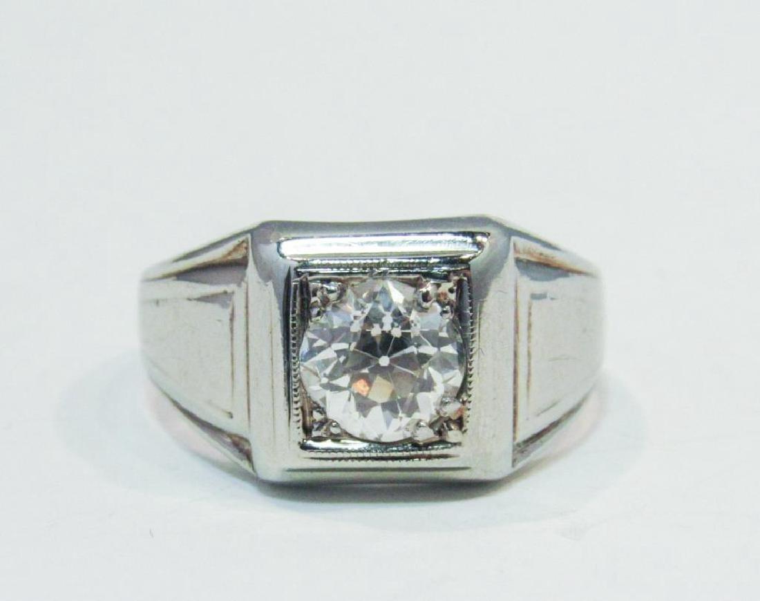 18K WHITE GOLD DIAMOND RING 1.25CT