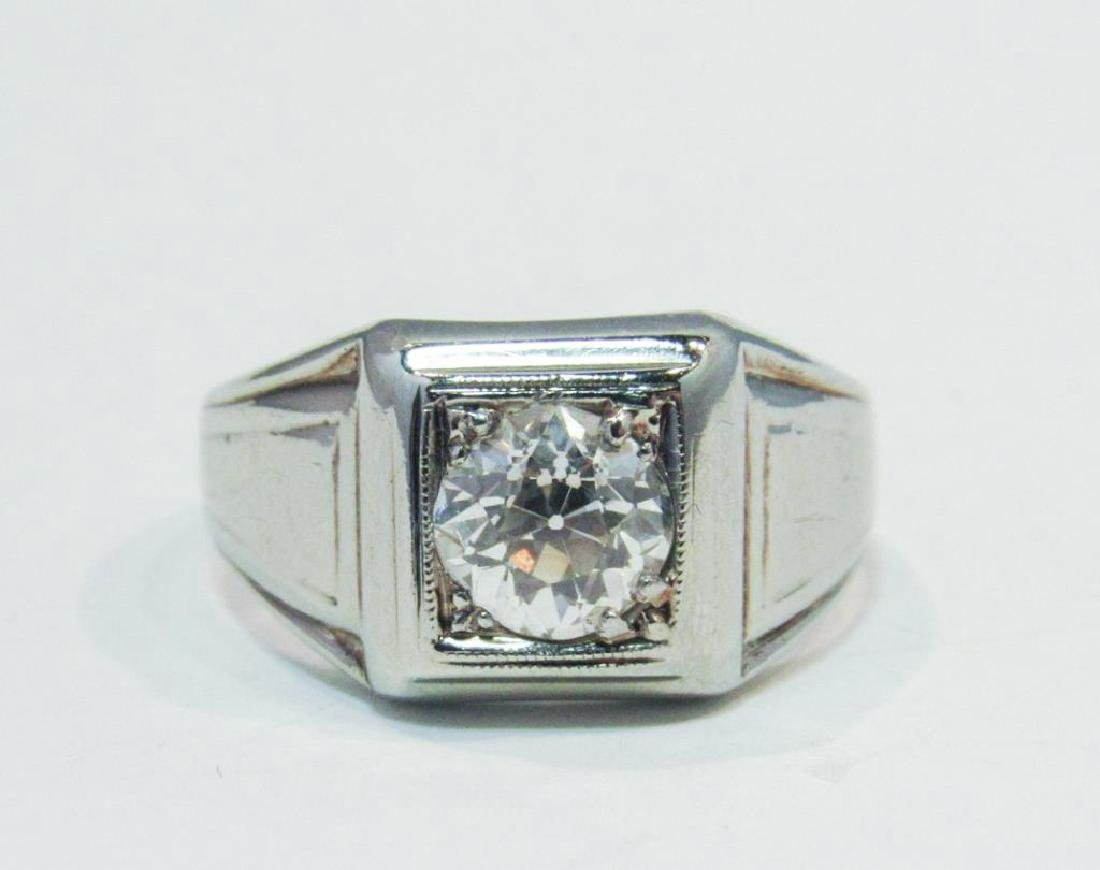 18K WHITE GOLD DIAMOND RING 1.25CT