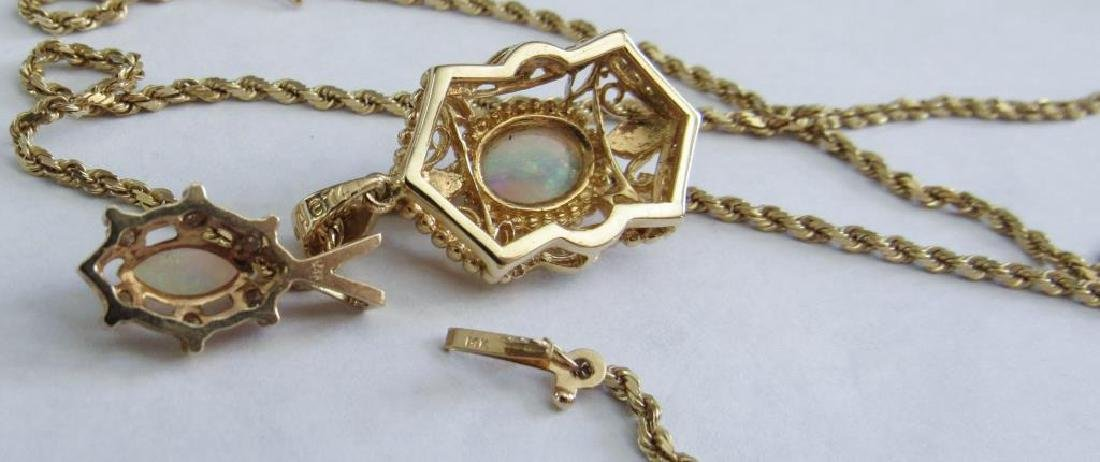 14K GOLD OPAL PENDANT ON CHAIN - 4
