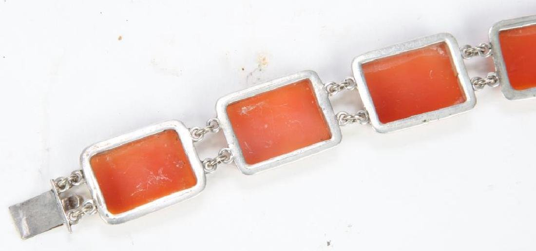 SHELL CAMEO and SILVER BRACELET - 2