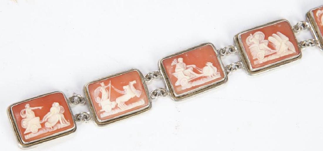SHELL CAMEO and SILVER BRACELET - 3