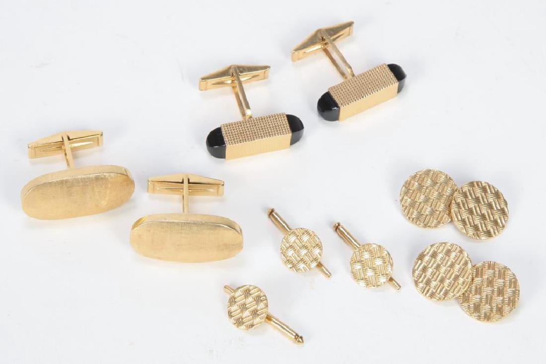 14K GOLD CUFFLINKS and STUDS