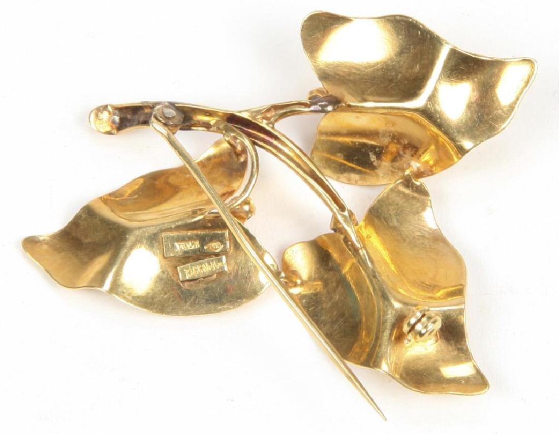 18K GOLD TIFFANY & CO BROOCH - 2