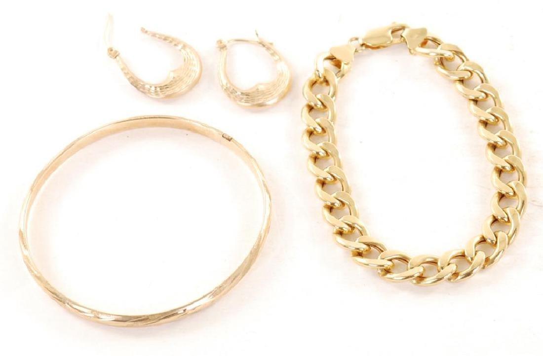 14K GOLD BRACELET / 10K GOLD EARRINGS / BRACELET