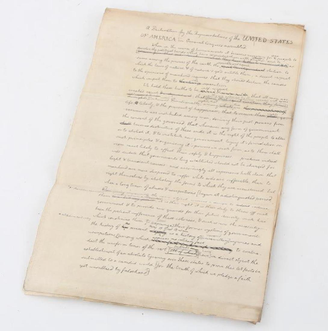 "1829 ""DECLARATION OF INDEPENDENCE"" DRAFT"