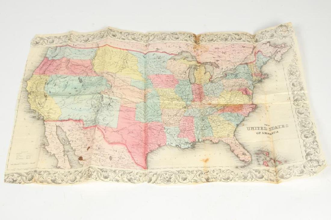 JH COLTON 1854 MAP OF THE UNITED STATES