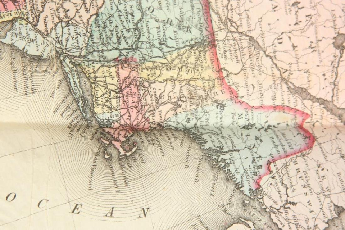 JH COLTON 1854 MAP OF THE UNITED STATES - 2