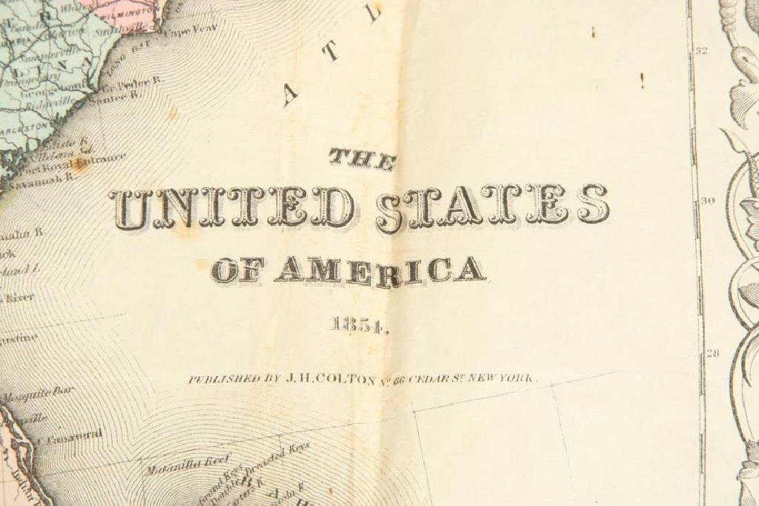 JH COLTON 1854 MAP OF THE UNITED STATES - 3