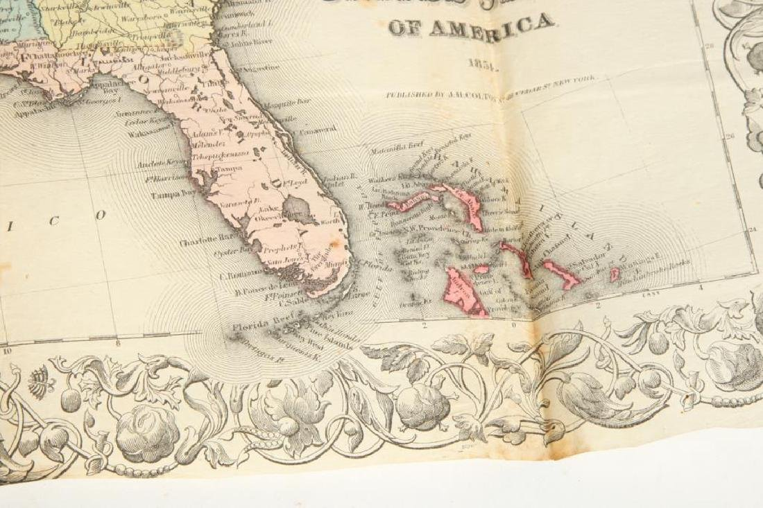 JH COLTON 1854 MAP OF THE UNITED STATES - 6