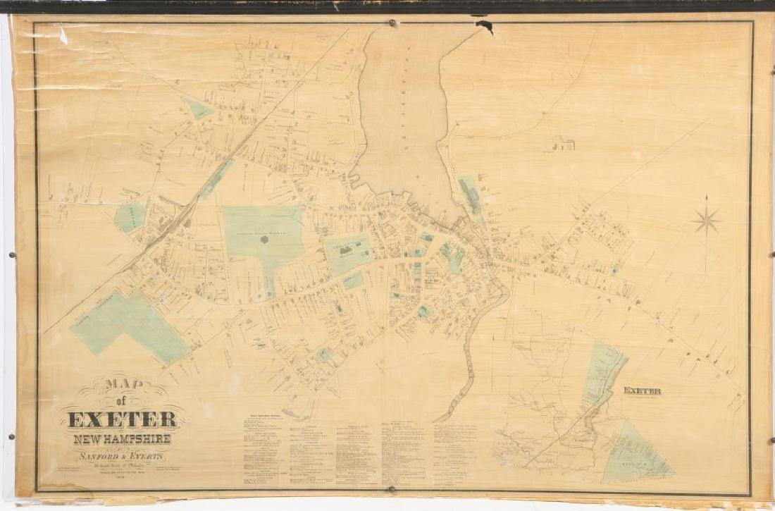 1874 MAP OF EXETER NH by SANFORD & EVERTS Map Of Exeter Nh on map of cannon mountain nh, map of center sandwich nh, map of lempster nh, map of bethlehem nh, map of nashua nh, map of kingston nh, map of lebanon nh, map of bear island nh, map of center barnstead nh, map of pawtuckaway lake nh, map of laconia nh, map of merrimack valley nh, map of kilkenny nh, map of oxford nh, map of mirror lake nh, map of orford nh, map of wilmot nh, map of new hampton nh, map of nh towns, map of chatham nh,