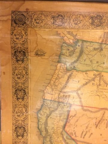 1853 WALL MAP OF NORTH and CENTAL AMERICA - 4
