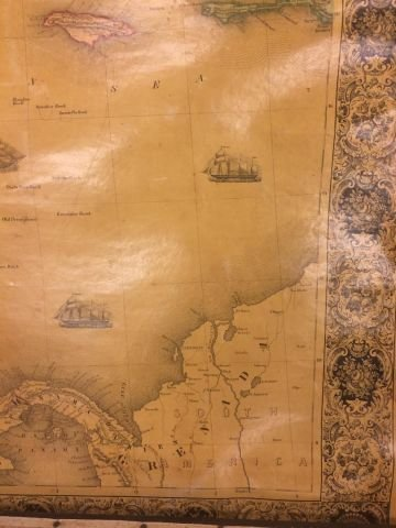 1853 WALL MAP OF NORTH and CENTAL AMERICA - 5