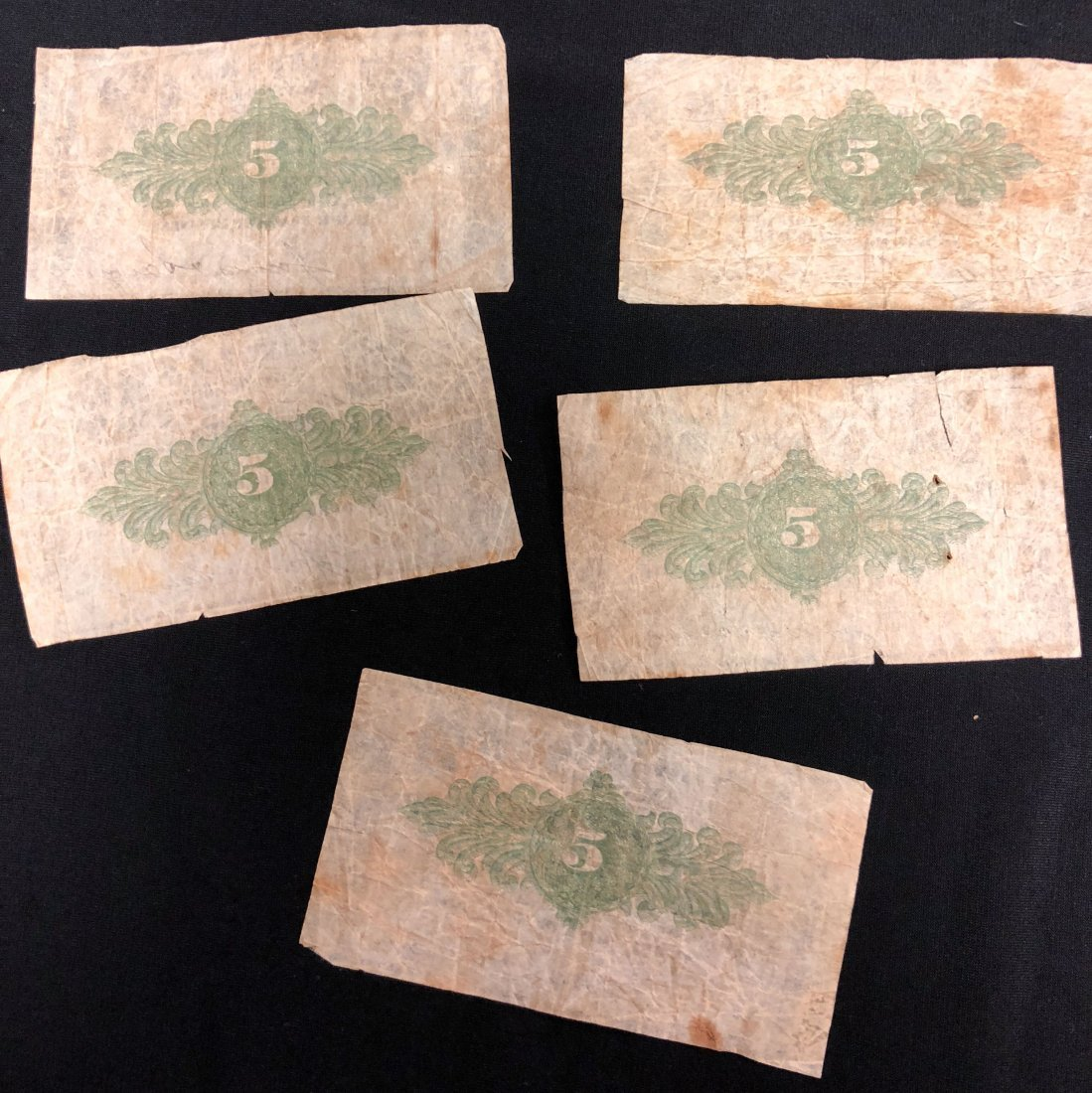 (5) ALTON NH 1862 FRACTIONAL CURRENCY NOTES - 7