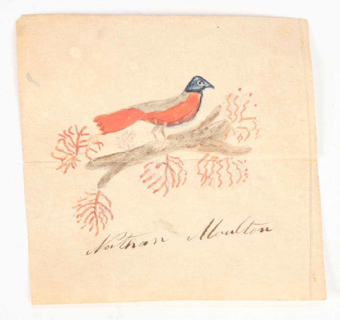 """NATHAN MOULTON"" (19th c) ACADEMY WATERCOLOR"
