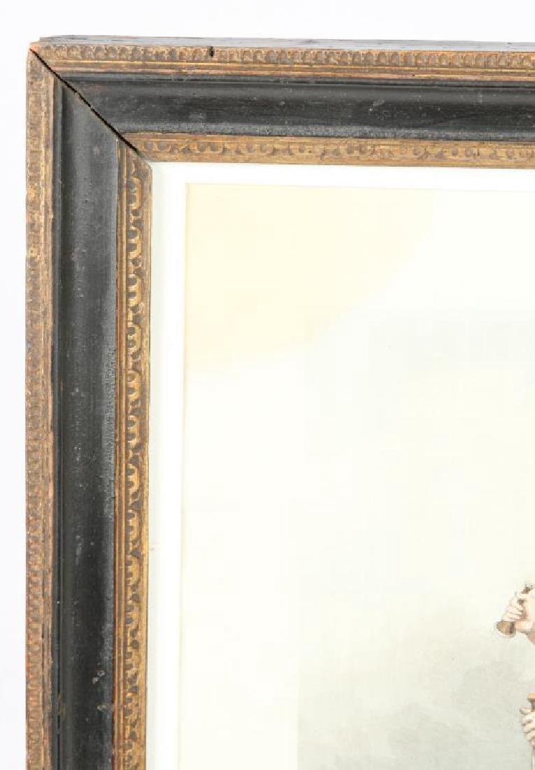 (19th c) AQUATINT PORTRAIT OF KING GEORGE III - 4