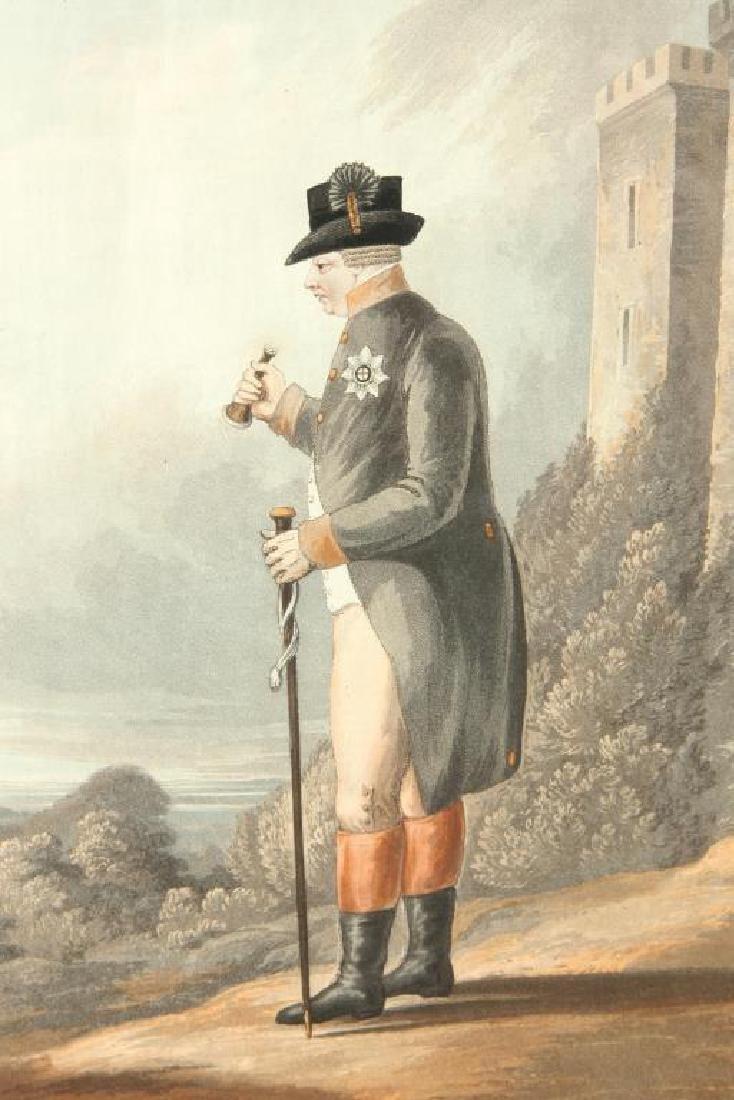(19th c) AQUATINT PORTRAIT OF KING GEORGE III - 5