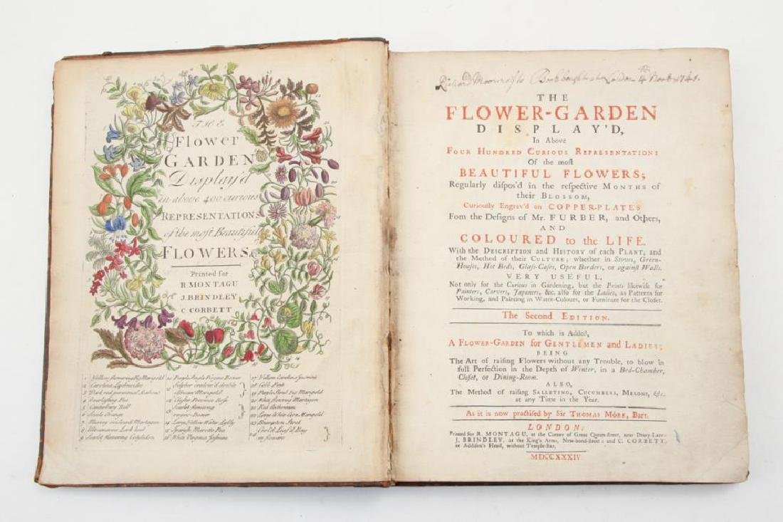 FLOWER-GARDEN DISPLAY'D 1734 THE SECOND EDITION