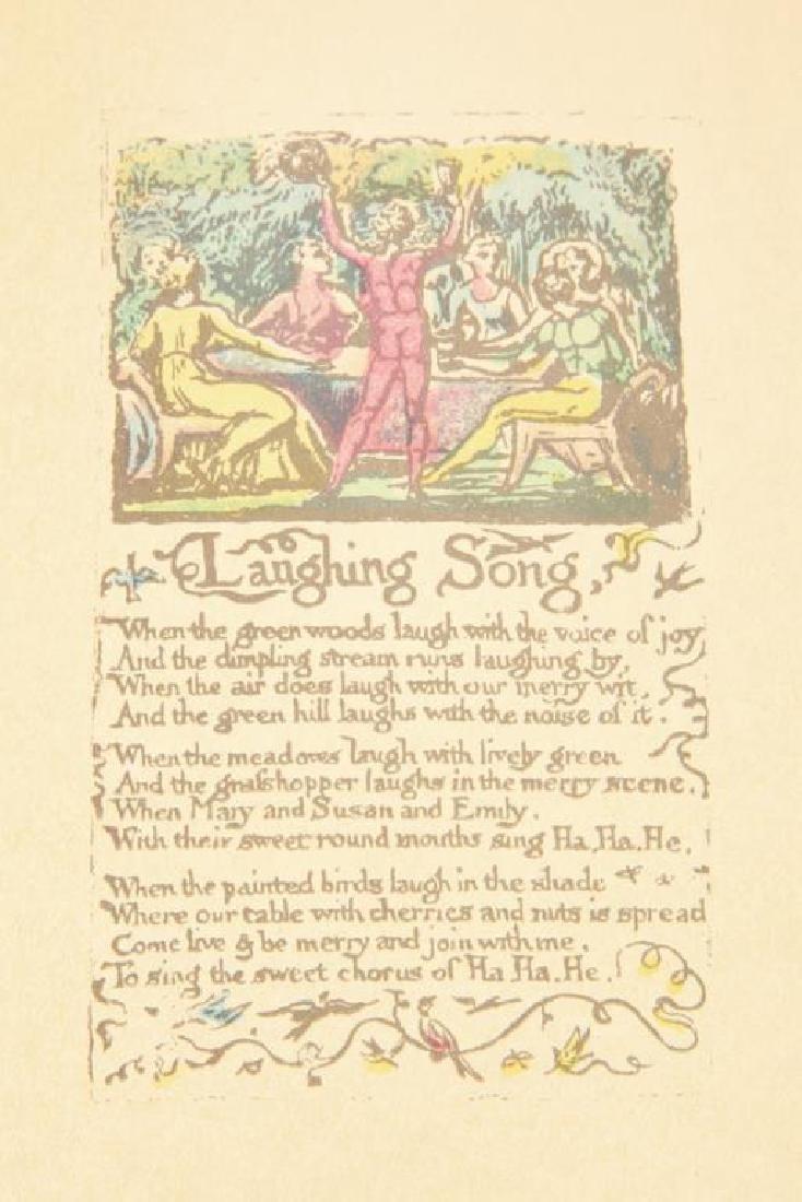 (2) SONGS OF INNOCENCE by WILLIAM BLAKE 1926 - 2