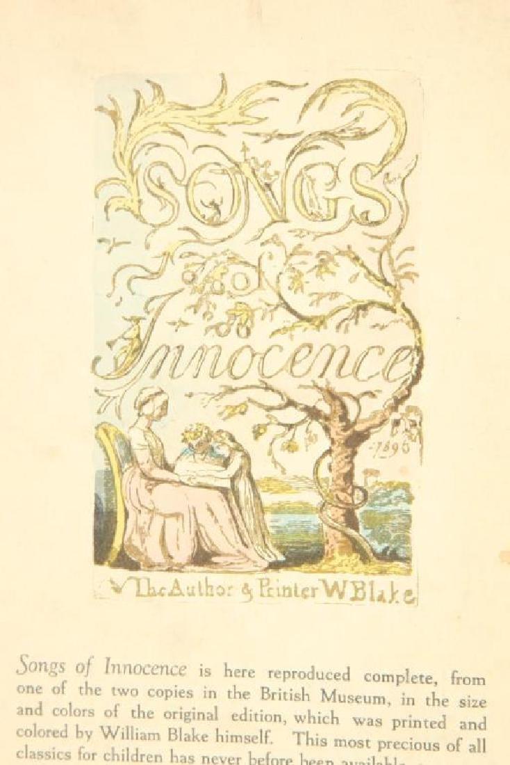 (2) SONGS OF INNOCENCE by WILLIAM BLAKE 1926 - 3