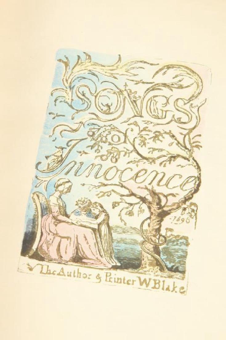 (2) SONGS OF INNOCENCE by WILLIAM BLAKE 1926 - 4