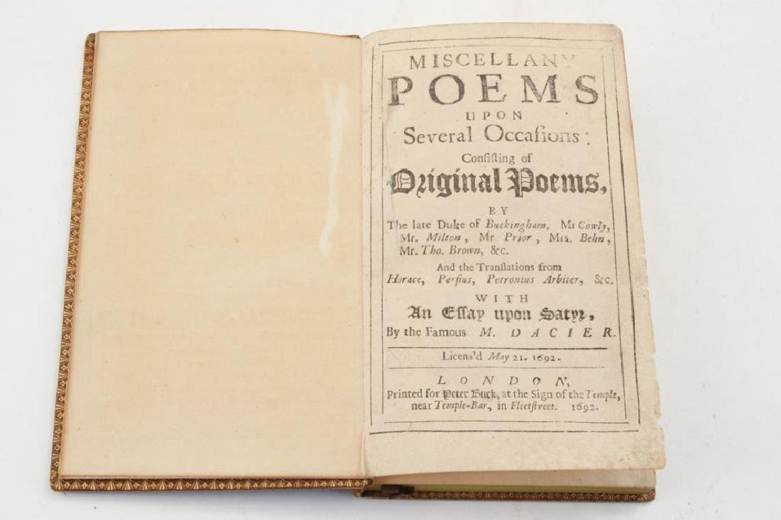 1692 MISCELLANY POEMS LONDON PETER BUCK