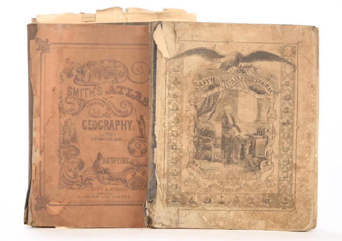LOT OF EPHEMERA 1850 GEOGRAPHY ATLAS PAPERS ETC