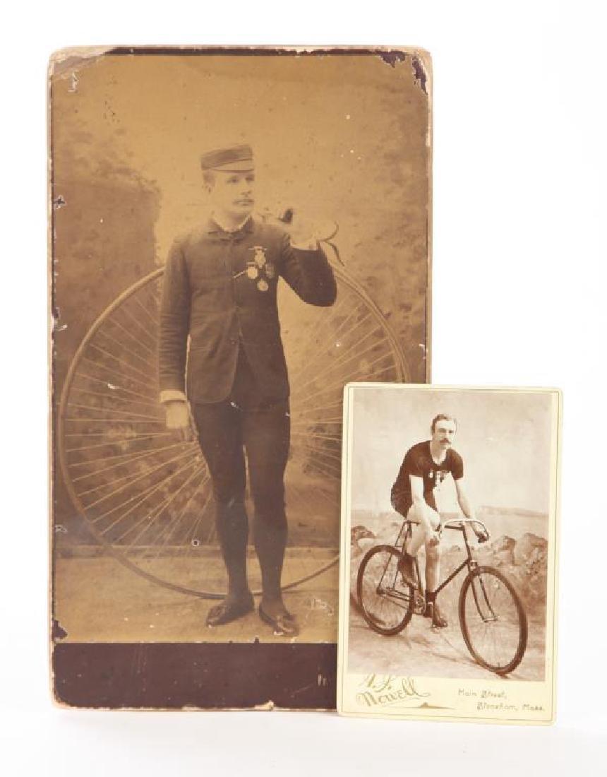 (2) EARLY CYCLING PHOTOGRAPHS circa 1880-1890