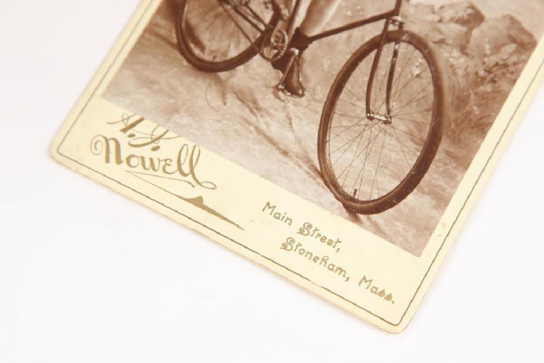 (2) EARLY CYCLING PHOTOGRAPHS circa 1880-1890 - 2