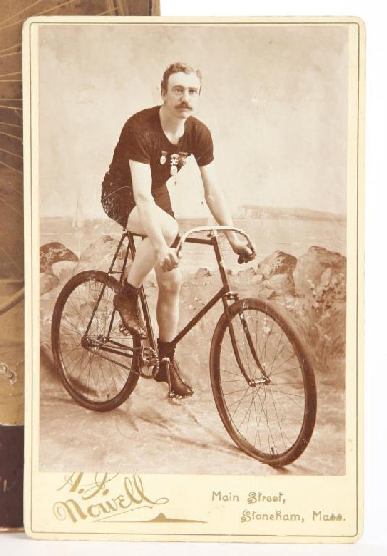 (2) EARLY CYCLING PHOTOGRAPHS circa 1880-1890 - 3