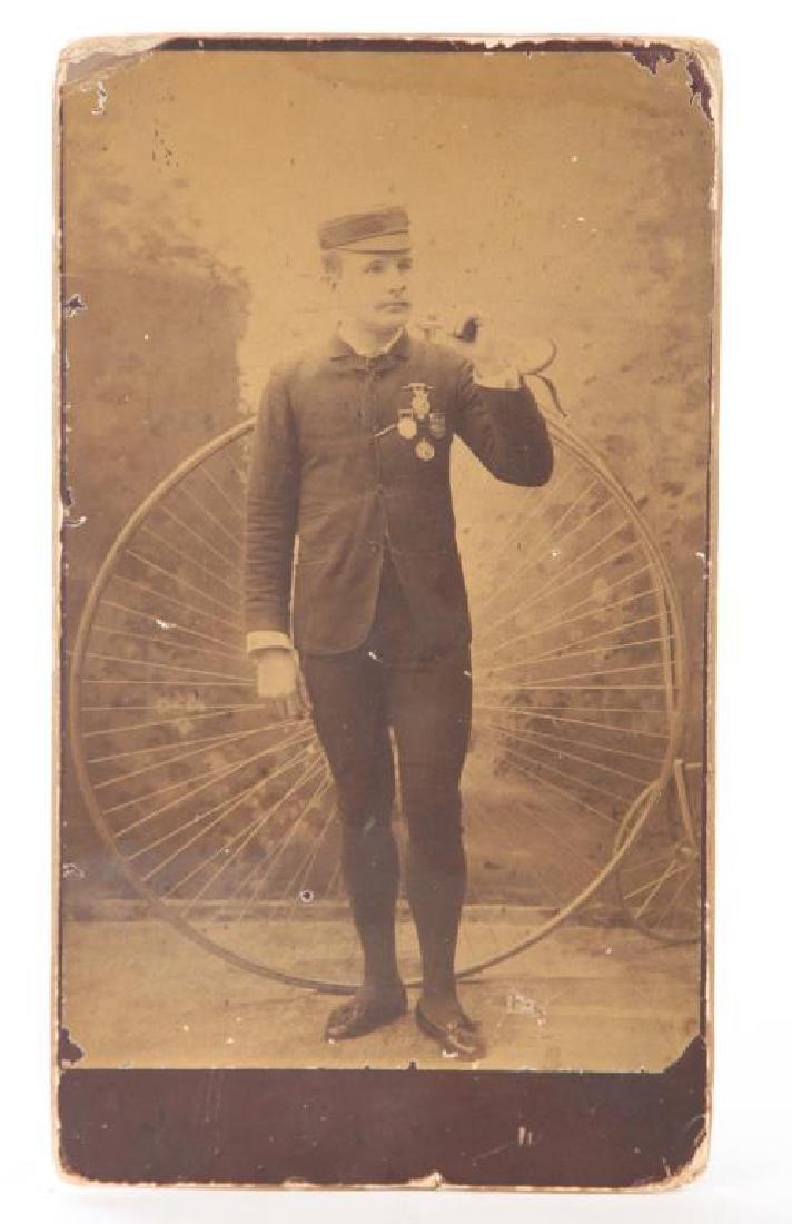(2) EARLY CYCLING PHOTOGRAPHS circa 1880-1890 - 4