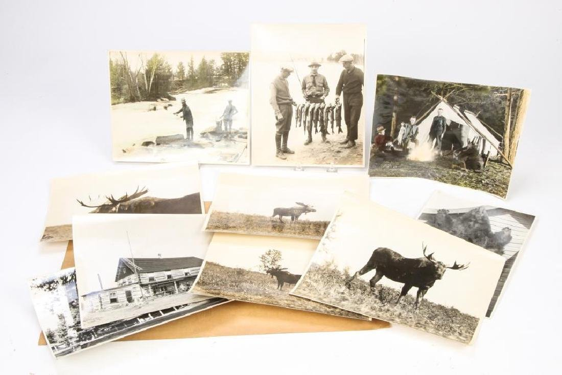 (10) EARLY (20th c) HUNTING / FISHING PHOTOGRAPHS