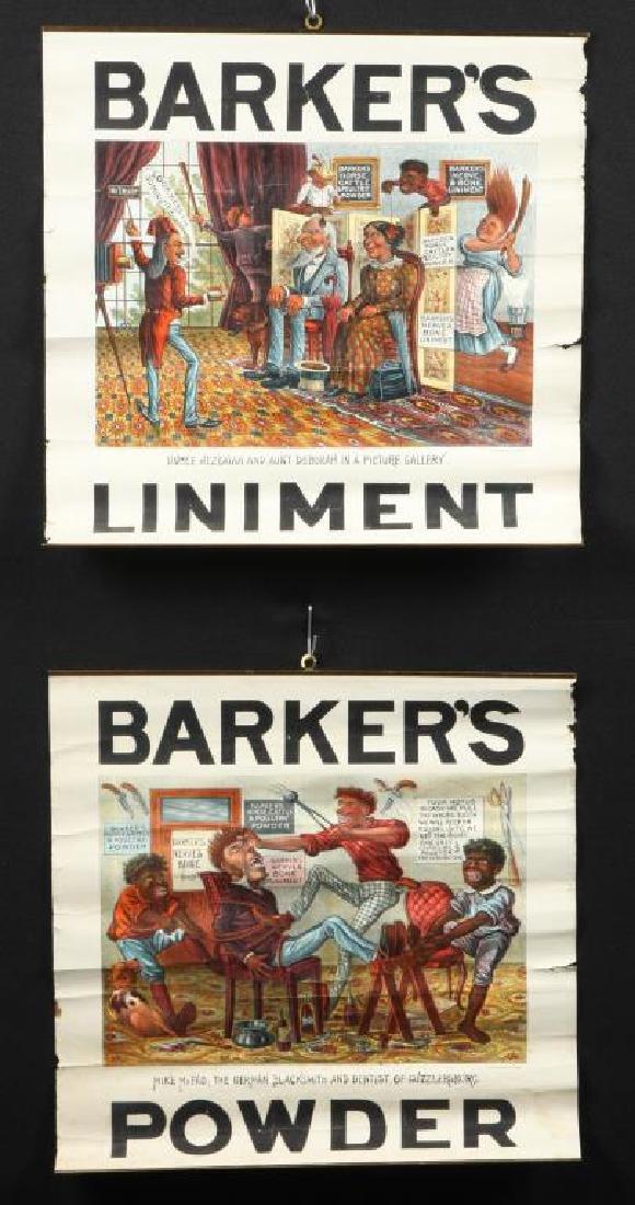 (2) BARKER'S POWDER KOMIC PICTURE SOUVENIERS