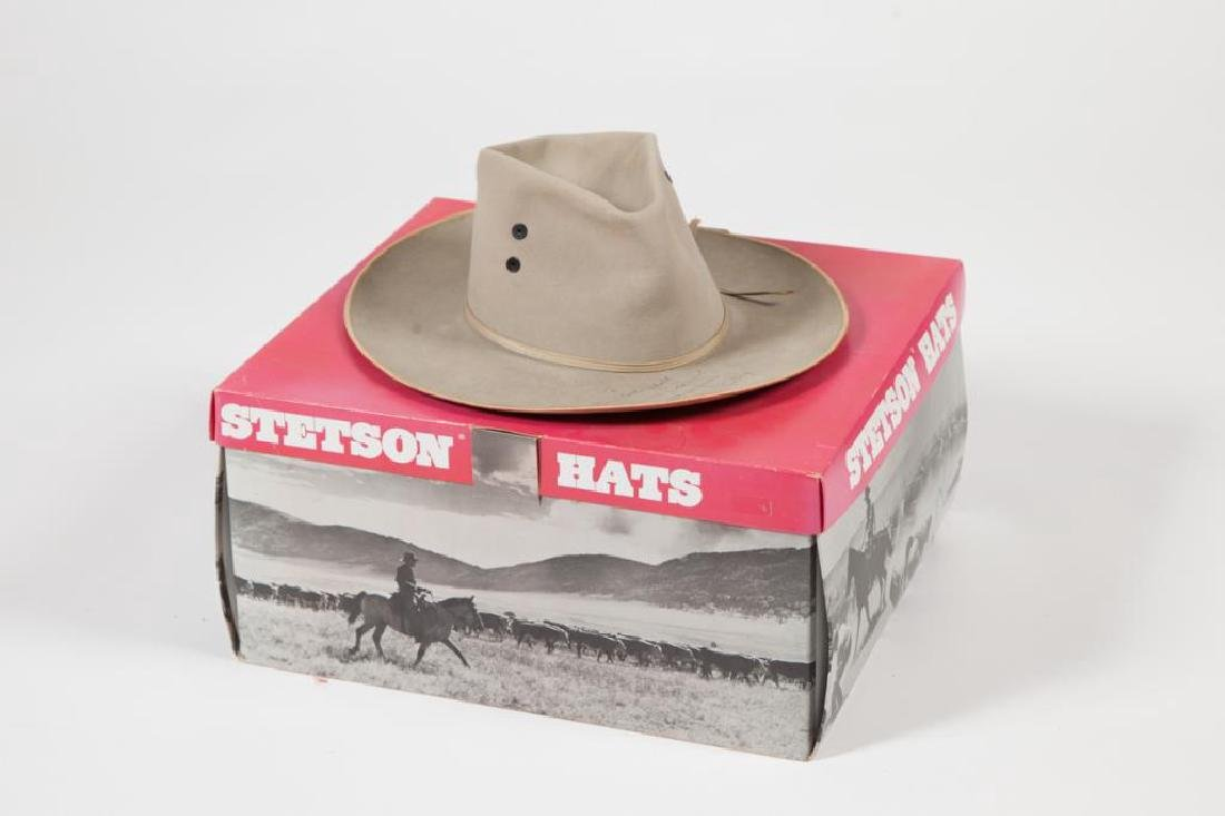 STETSON HAT SIGNED BY GENE AUTRY - 3