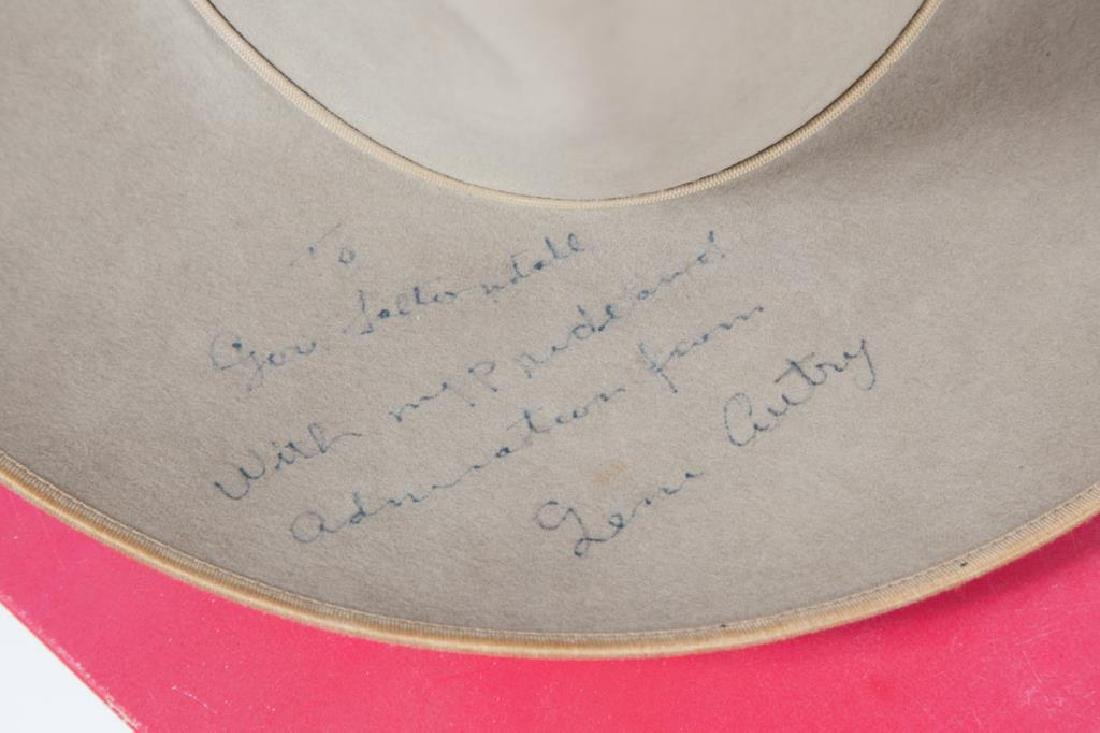 STETSON HAT SIGNED BY GENE AUTRY - 4