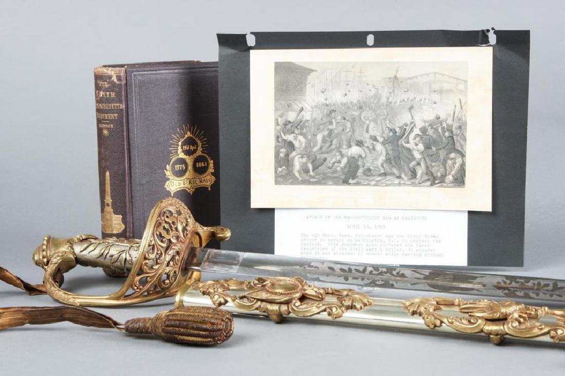 OUTSTANDING CIVIL WAR PRESENTATION SWORD