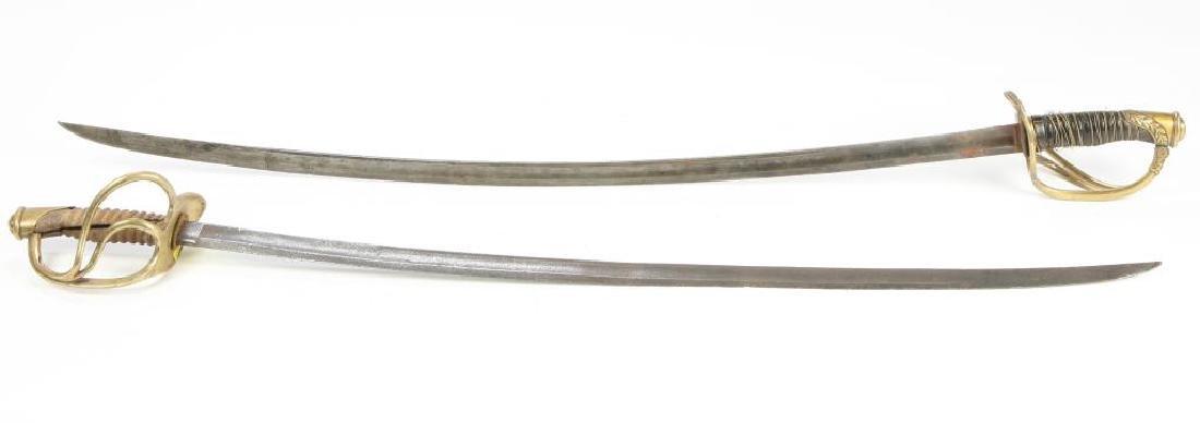 (2) LIGHT CAVALRLY SWORDS