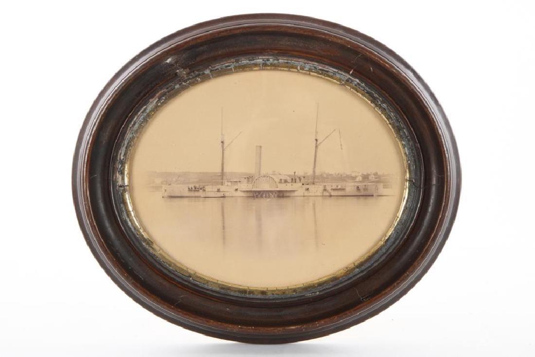 "CIVIL WAR PERIOD PHOTO OF GUNBOAT ""USS IOSCO"""