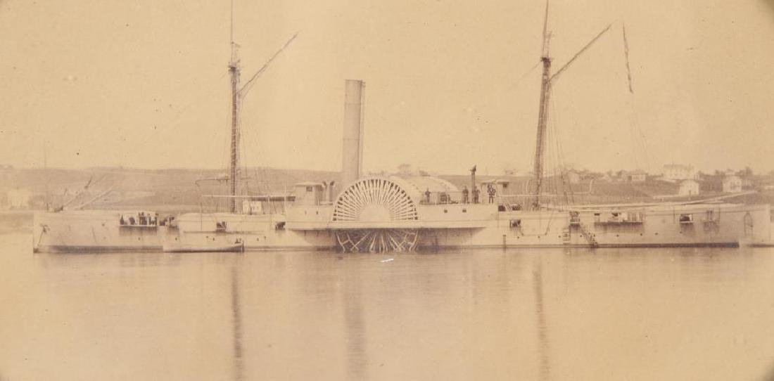 "CIVIL WAR PERIOD PHOTO OF GUNBOAT ""USS IOSCO"" - 3"