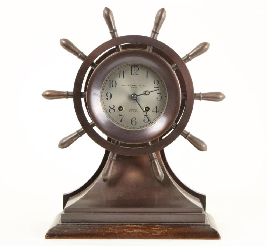 CHELSEA SHIP'S BELL SHELF CLOCK